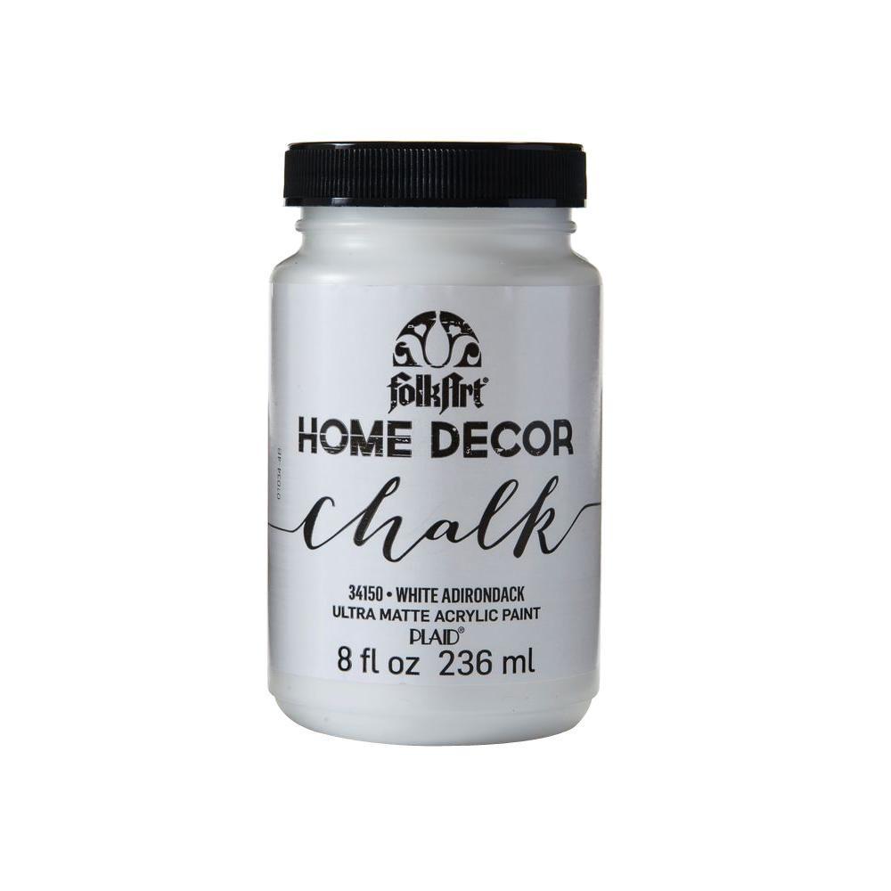 Home Decor 8 oz. White Adirondack Ultra-Matte Chalk Finish Paint