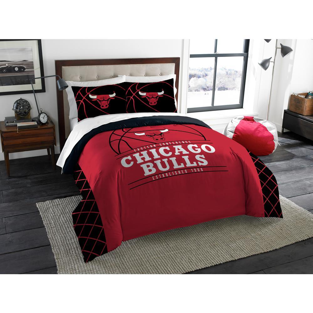 Bulls 3-Piece Multicolored Full Comforter Set