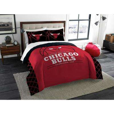Bulls 3-Piece Multi Color Polyester Reverse Slam Full and Queen Comforters Set