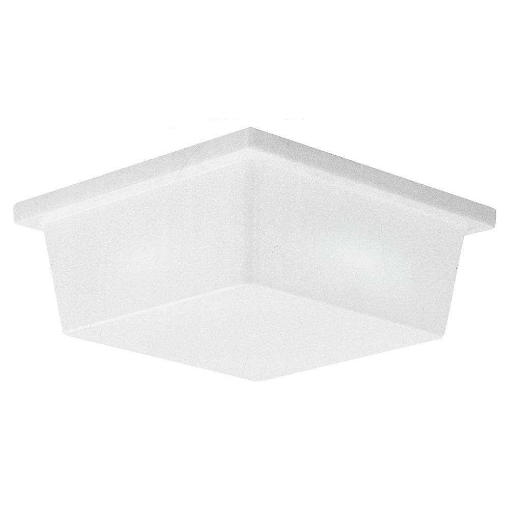 2-Light White Plastic Ceiling and Wall Fixture
