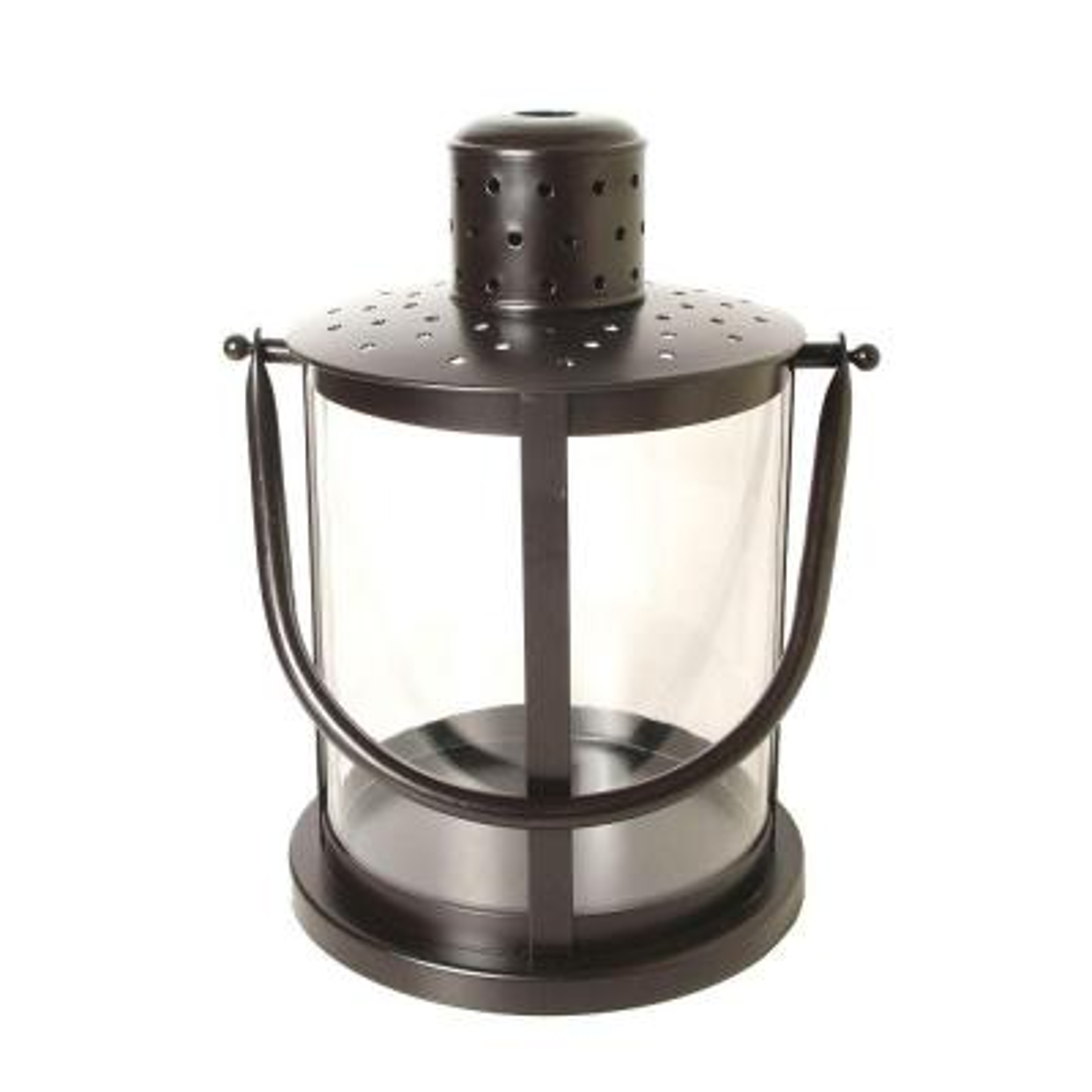15.5 in. Round Lantern in Rust Patina