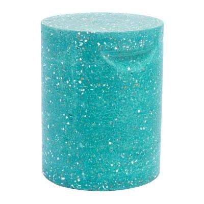 Terrazzo Green Stone Outdoor Side Table