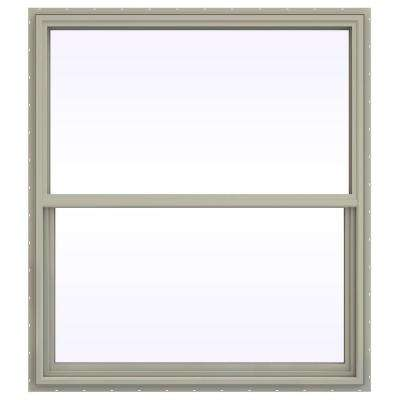 47.5 in. x 47.5 in. V-4500 Series Single Hung Vinyl Window - Tan