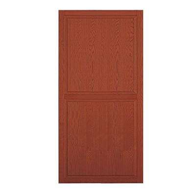 Solid Oak Double End Side Panel for 21 in. D Executive Wood Locker in Medium Oak