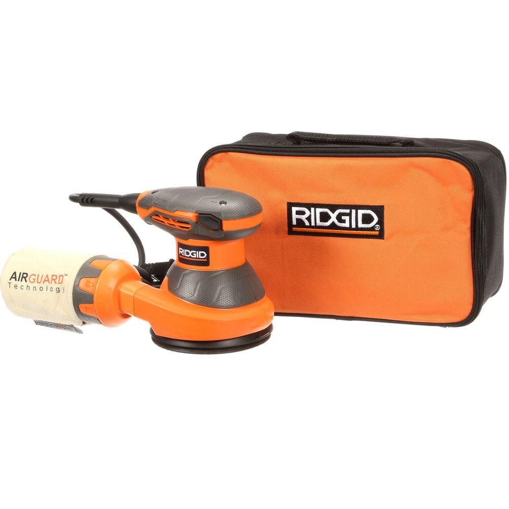 RIDGID 5 in. Random Orbital Sander with AIRGUARD Technology