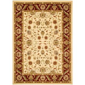 Lyndhurst Ivory Red 5 Ft 3 In X 7 6