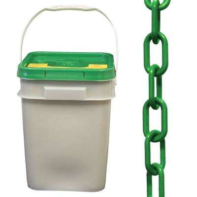 2 in. (#8, 51 mm) x 160 ft. Pail Green Plastic Chain