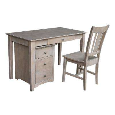 Weathered Gray Taupe Staci 3-Piece Office Set