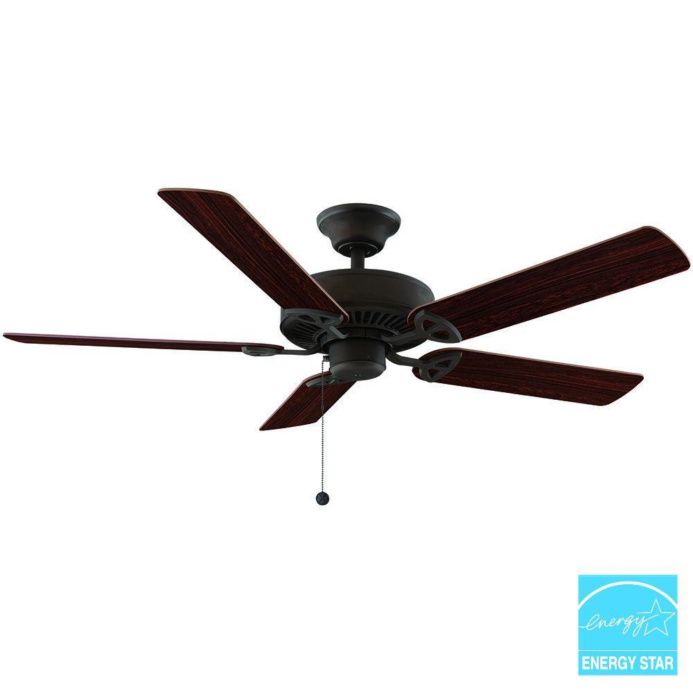 Farmington 52 in. Indoor Oil Rubbed Bronze Ceiling Fan