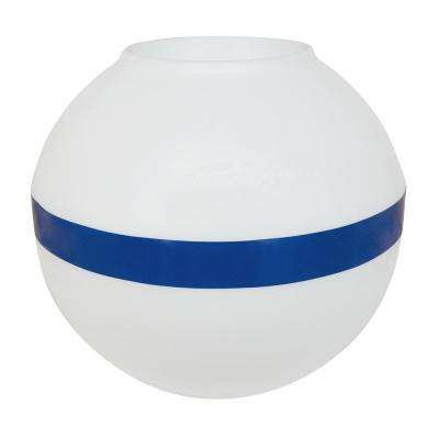 Sur-Moor Shackle Buoy, White with Blue Reflective Striping