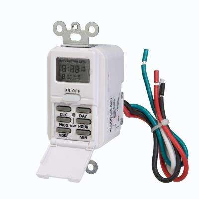 Digital In-Wall Timer - White