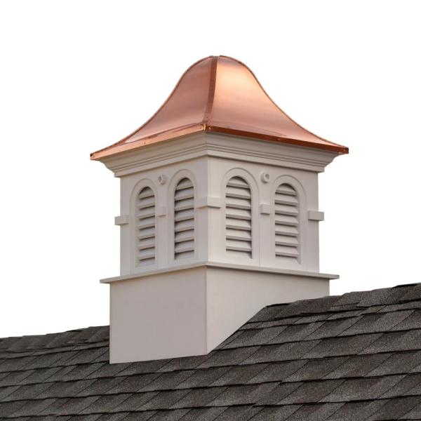 Smithsonian Montgomery 30 in. x 50 in. Vinyl Cupola with Copper Roof