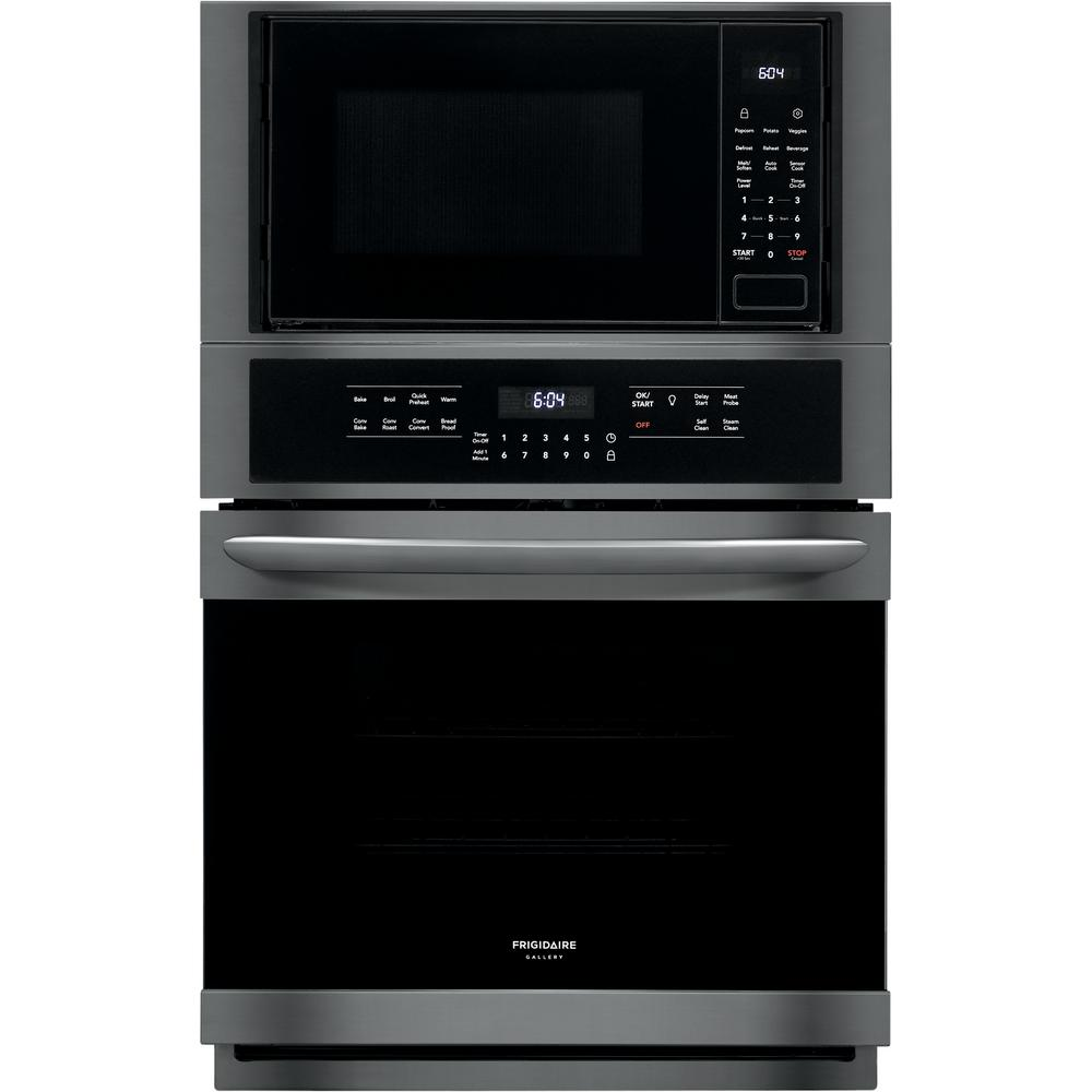 Frigidaire Gallery 27 in  Electric True Convection Wall Oven with Built-In  Microwave in Black Stainless Steel