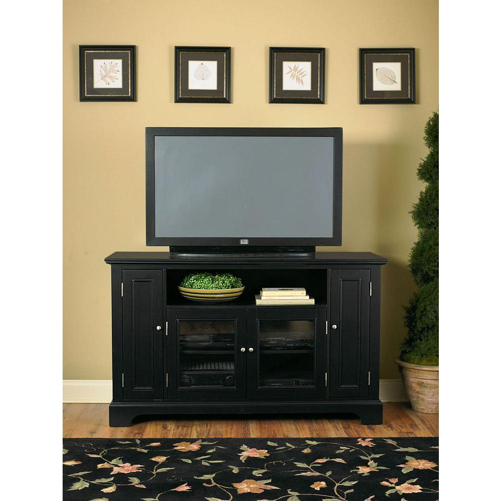Home Styles Bedford Black Storage Entertainment Center