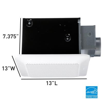 WhisperChoice Pick-A-Flow 80/110 CFM Ceiling Bathroom Exhaust Fan with Flex-Z Fast Bracket