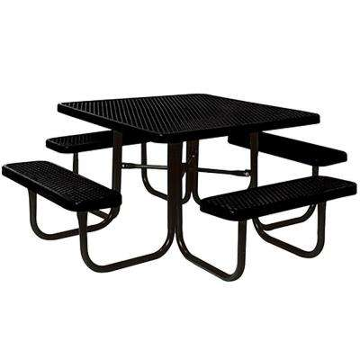 Portable Black Diamond Commercial Park Square Picnic Table