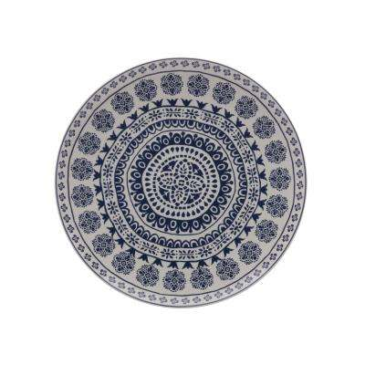 Blue Antico Ceramic Round Platter