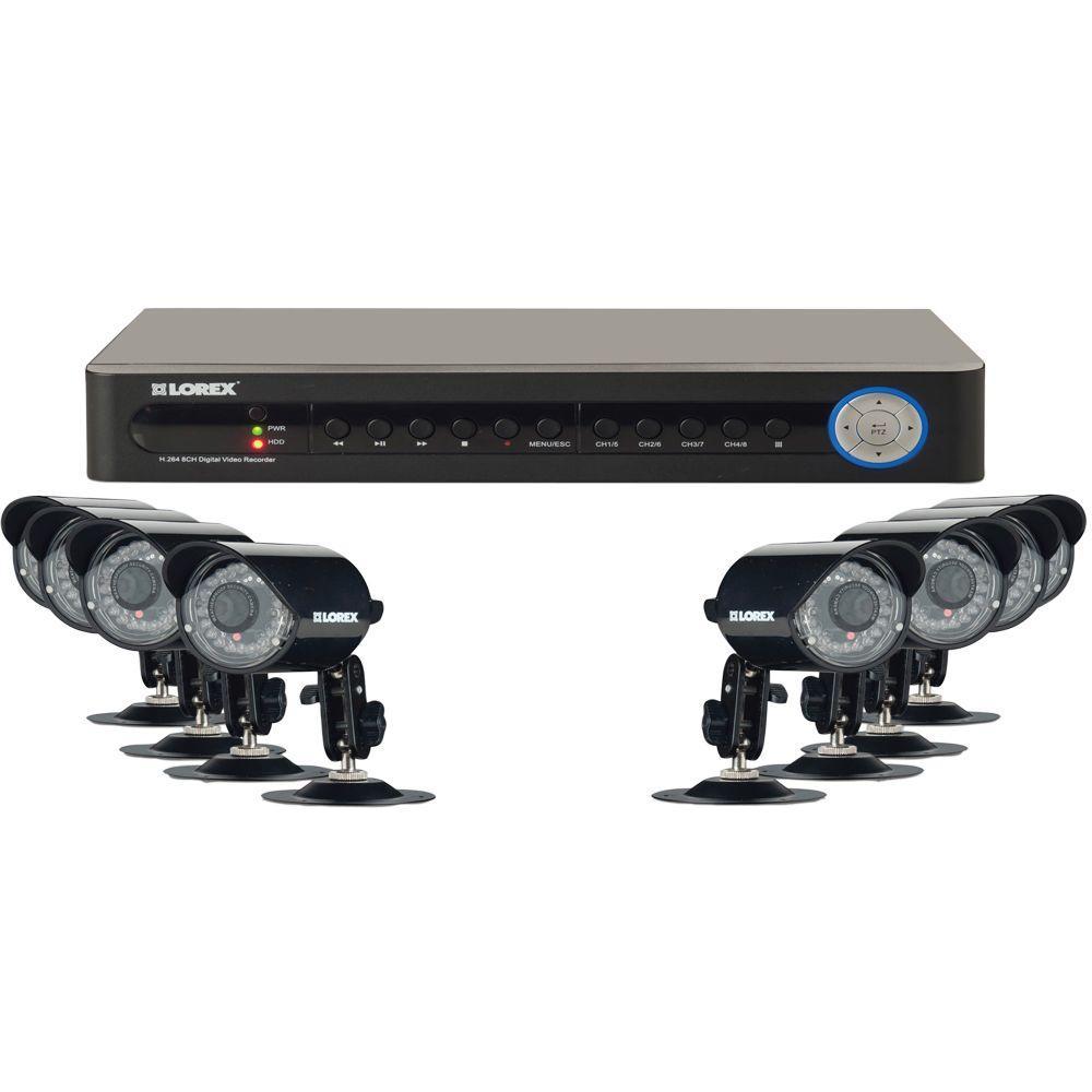 Lorex Eco 8 CH 500 GB Hard Drive Surveillance System with (8) 600 TVL Cameras-DISCONTINUED