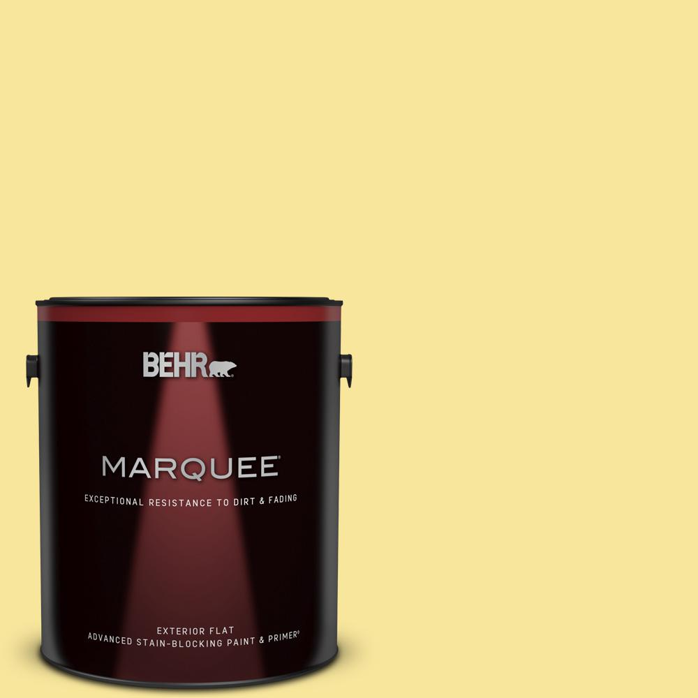 Behr Marquee 1 Gal P310 4 Storm Lightning Flat Exterior Paint Primer 445401 The Home Depot