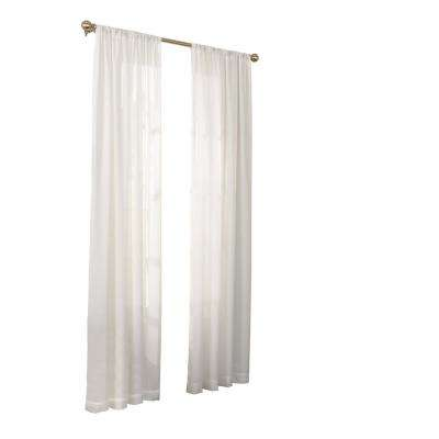 Chelsea UV Light Filtering Sheer Window Curtain Panel in White - 52 in. W x 63 in. L