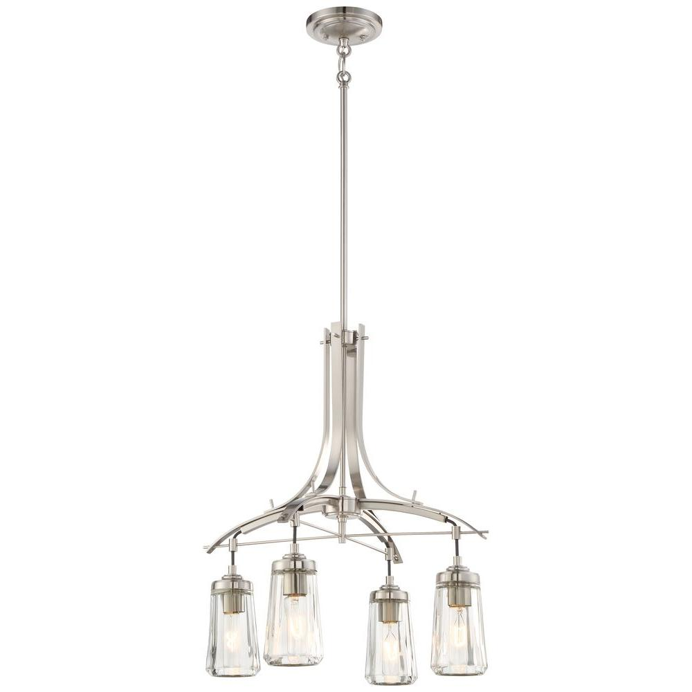 Minka Lavery Poleis 4-Light Brushed Nickel Chandelier