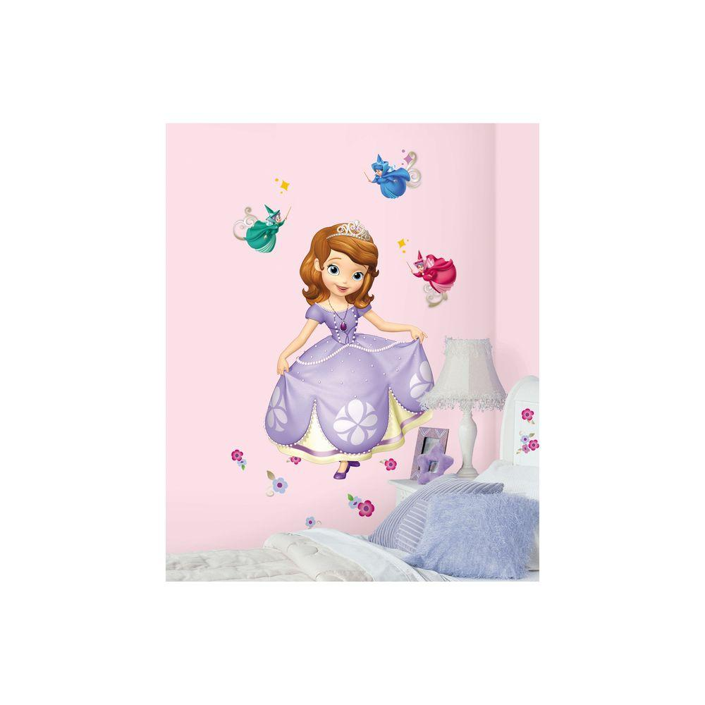 null 2.5 in. x 27 in. Sofia the First Peel and Stick Giant Wall Decals