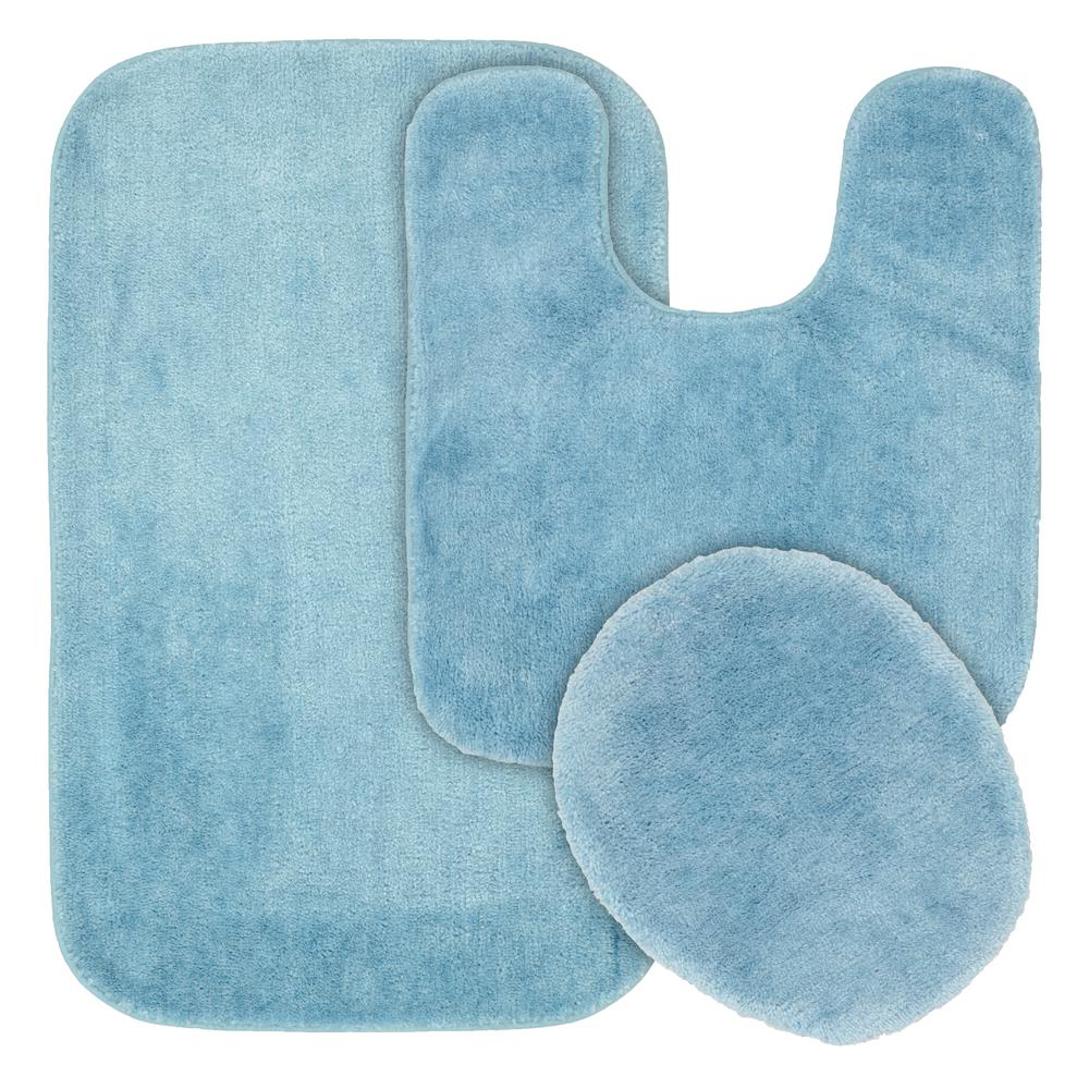 garland rug traditional basin blue 3-piece washable bathroom