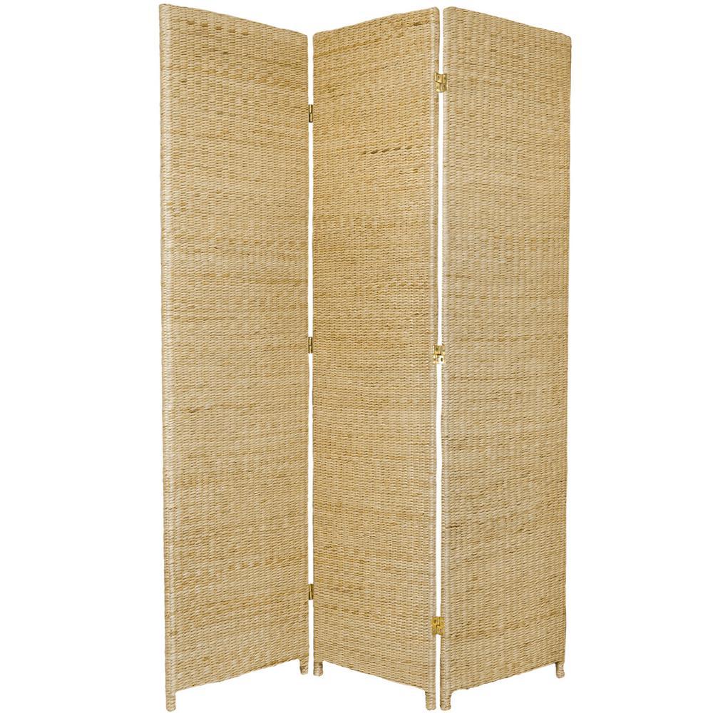 6 ft. Natural 3-Panel Room Divider