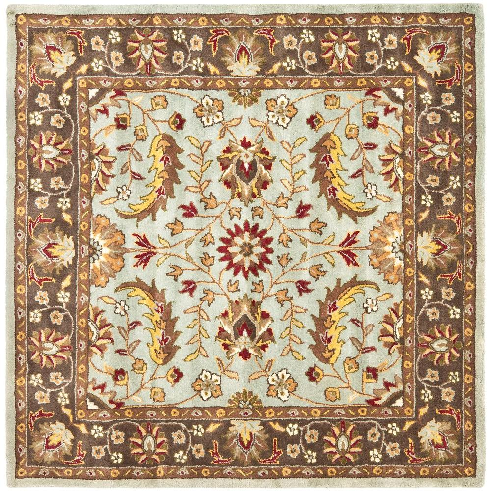 Safavieh Heritage Blue/Brown 6 ft. x 6 ft. Square Area Rug