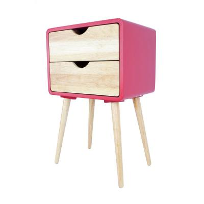 Shelly Red Wood End Table