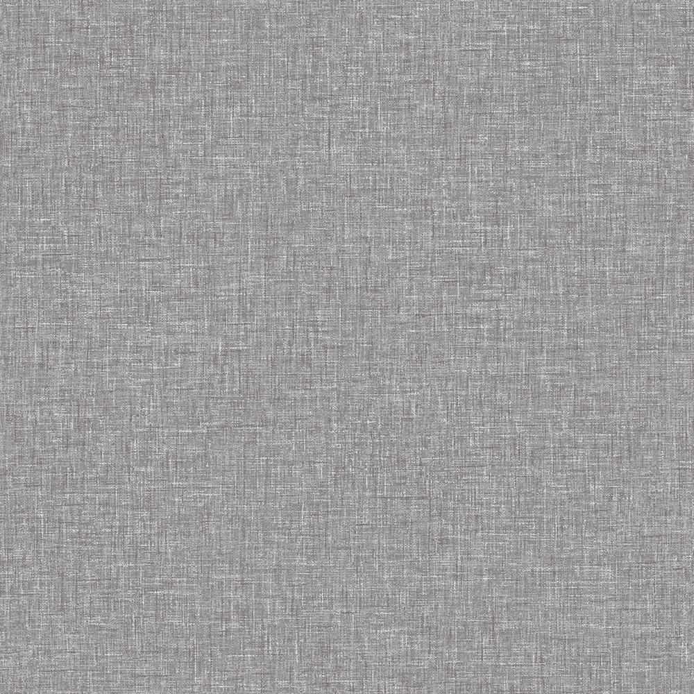 Mid Grey Linen Textures Wallpaper