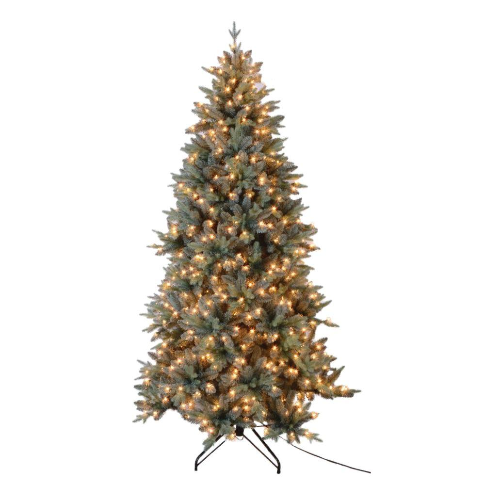 blue spruce artificial christmas tree with 650 ul lights - Blue Spruce Artificial Christmas Tree