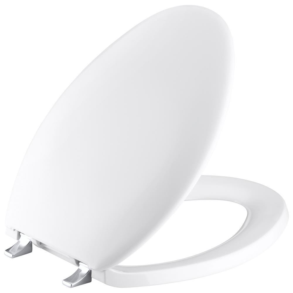 Fabulous Kohler Bancroft Elongated Closed Front Toilet Seat In White Machost Co Dining Chair Design Ideas Machostcouk