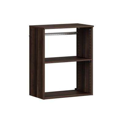 Style+ 14.59 in. D x 25.12 in. W x 31.28 in. H Modern Walnut Wood Closet System Hanging Tower