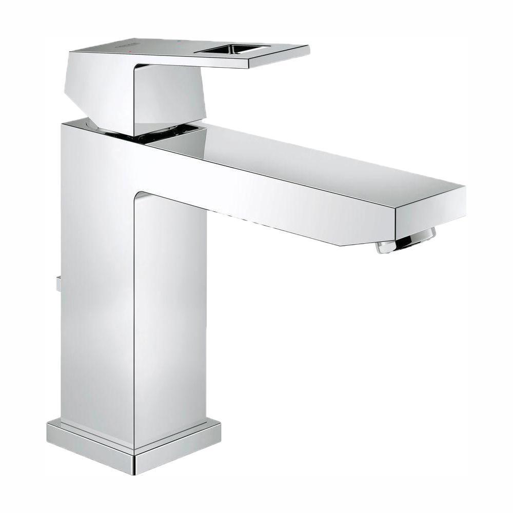 Eurocube M-Size Single Hole Single-Handle Bathroom Faucet in StarLight Chrome