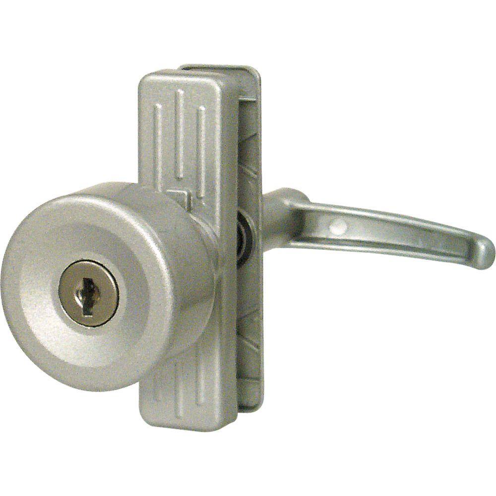 Prime-Line Tulip Knob Lock, Keyed, with 3 in. Hole Center, Aluminum