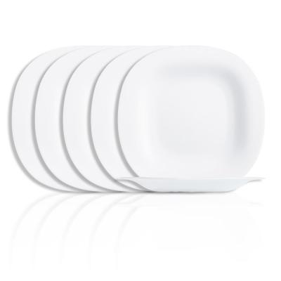 Carine White Dinner Plate (6-Pack)