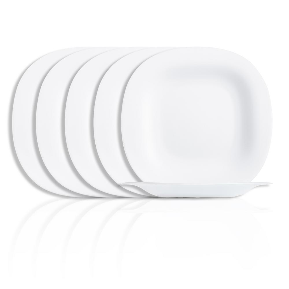Carine White Dinner Plate (6-Pack)