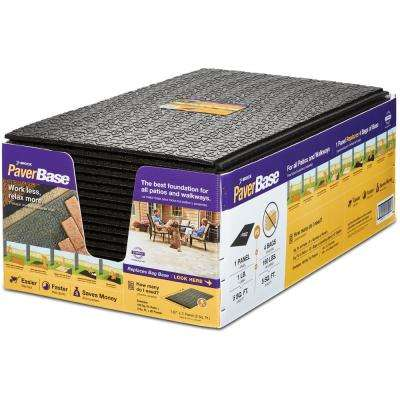 20 in. x 36 in. Black Polypropylene Paver Base Panel (20-Case)