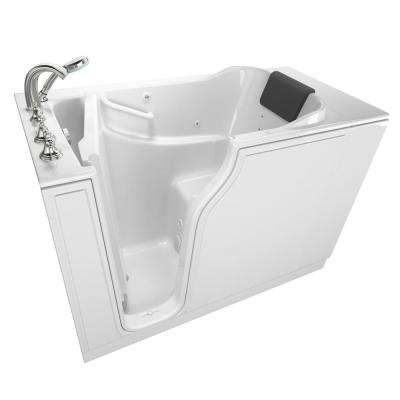 Gelcoat Premium Series 52 in. x 30 in. Left Hand Walk-In Whirlpool Bathtub in White