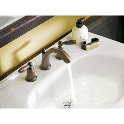 Brantford 8 in. Widespread 2-Handle High-Arc Bathroom Faucet Trim Kit with Valve in Oil Rubbed Bronze