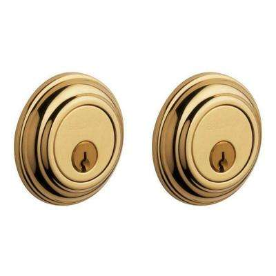 Traditional Lifetime Polished Brass Double Cylinder Deadbolt