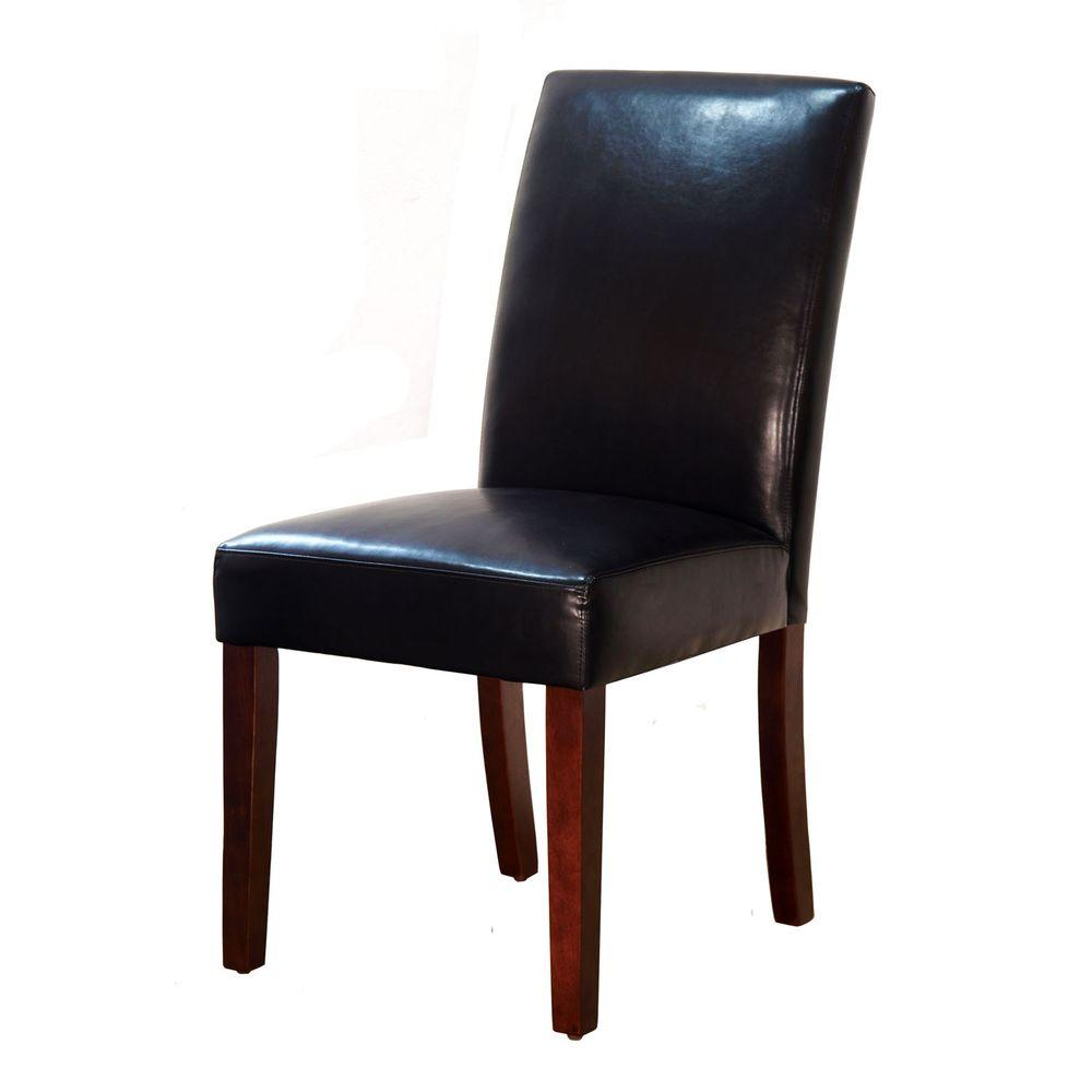 Brexley Espresso Bonded Leather Parsons Dining Chair