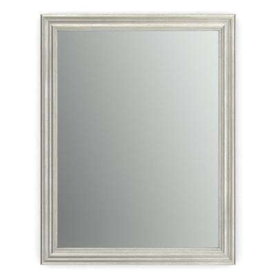 23 in. x 33 in. (S2) Rectangular Framed Mirror with Standard Glass and Easy-Cleat Float Mount Hardware in Vintage Nickel