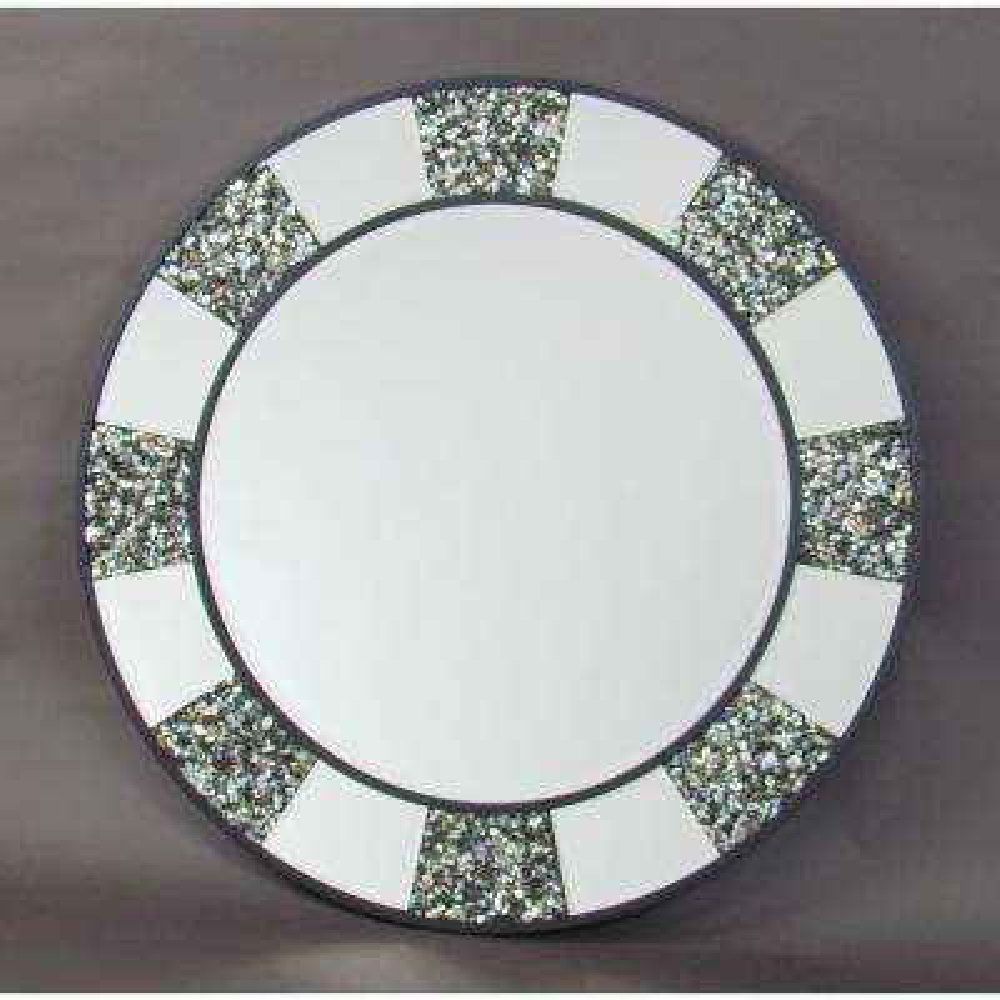 Pebble Shell Beveled Mirror