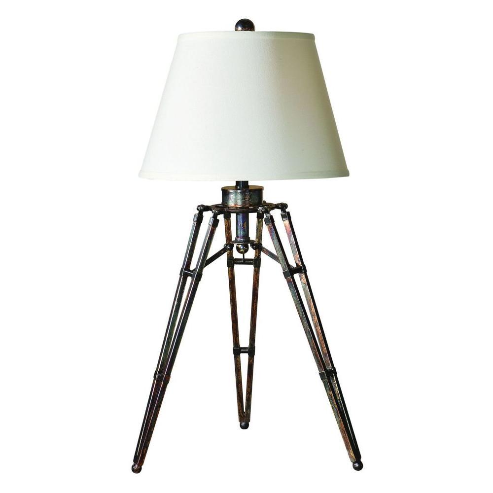 34 in. Bronze Tripod Table Lamp