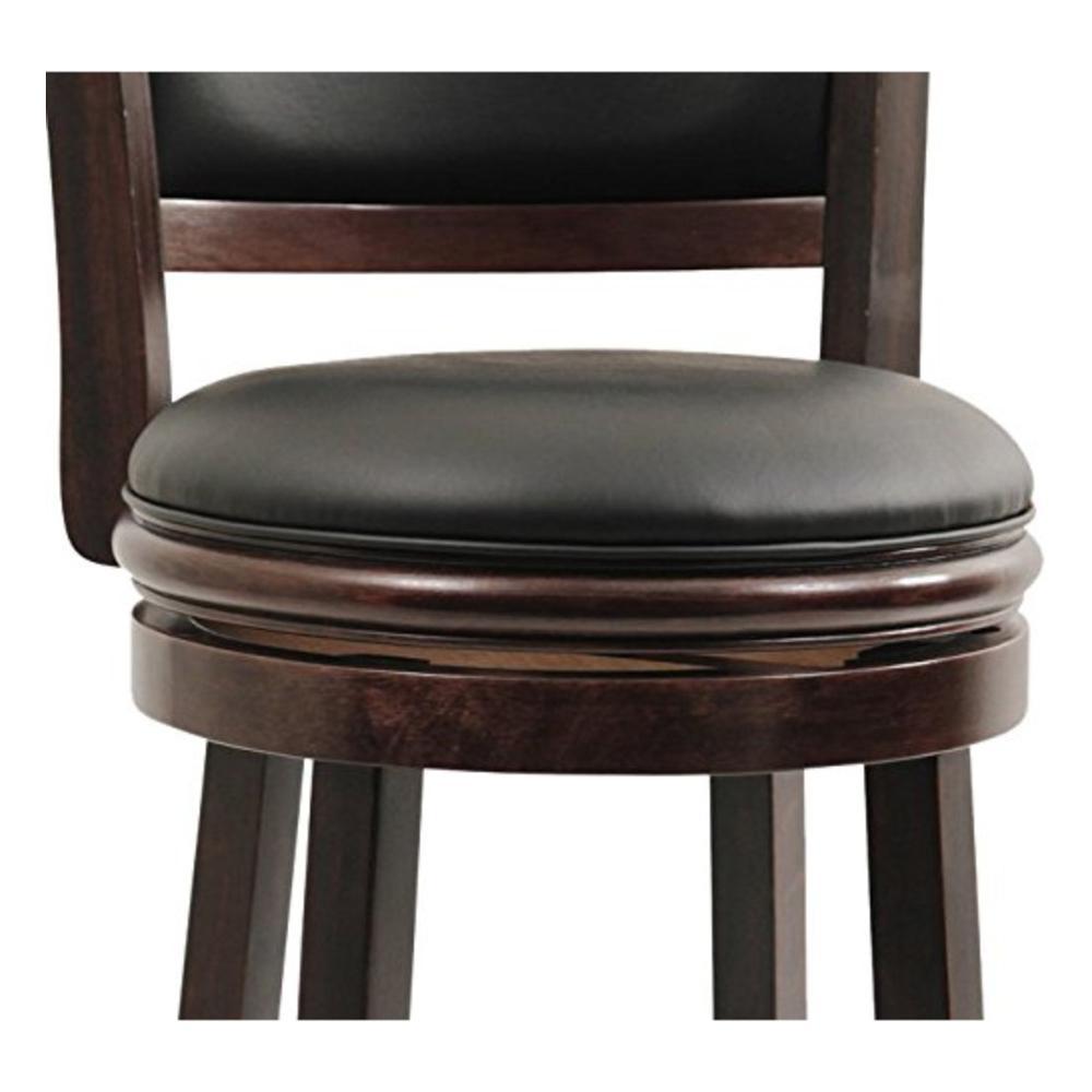 Brilliant Boraam Augusta 29 In Cappuccino Swivel Cushioned Bar Stool Machost Co Dining Chair Design Ideas Machostcouk