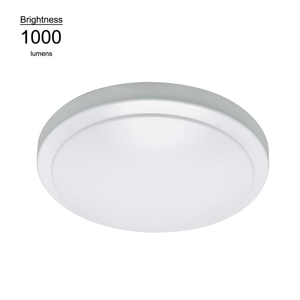 Led Flush Mount Ceiling Light Lampholder Replacement Fixture: Commercial Electric 7 In. Color Changing White Integrated