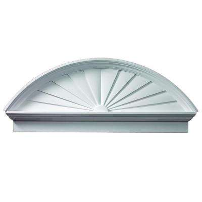 54 in. x 21-3/8 in. x 3-1/8 in. Polyurethane Combination Sunburst Pediment