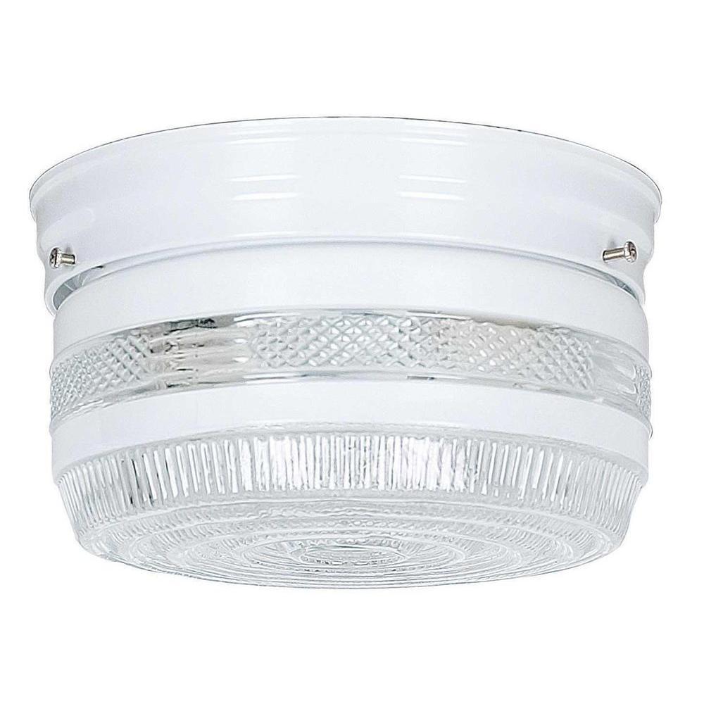 Peppiatt 2-Light White Flushmount